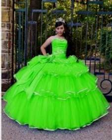 lime green and hot pink quinceanera dresses