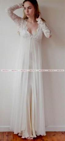 long sleeve casual wedding dress