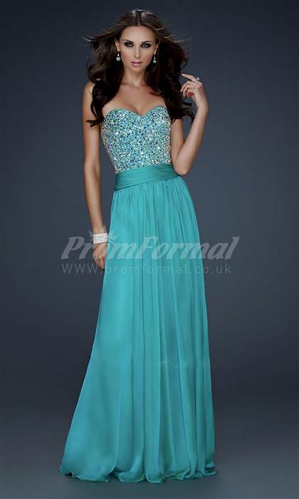 long turquoise prom dresses