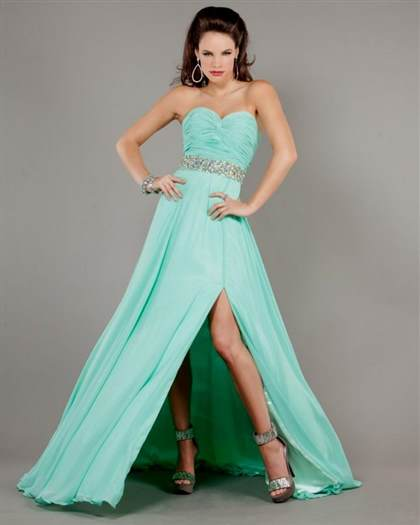 mint green prom dress
