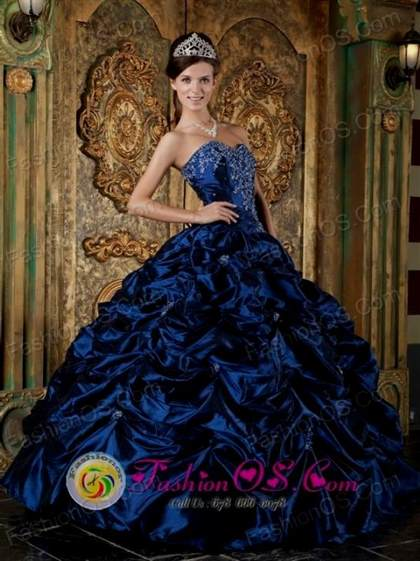 navy blue ball gown