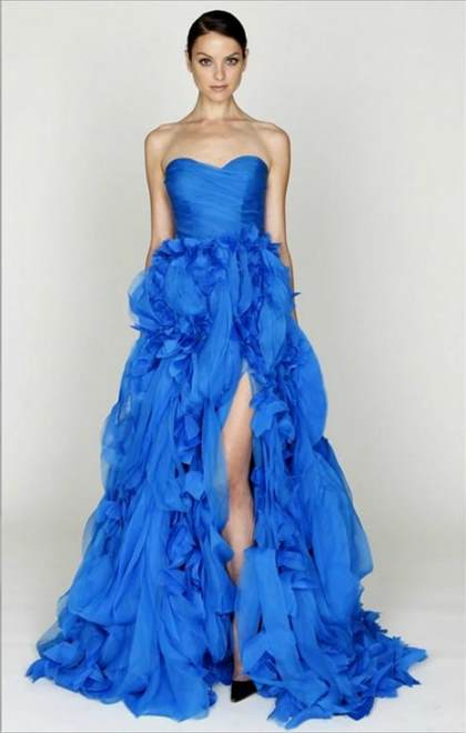 neon blue bridesmaid dresses