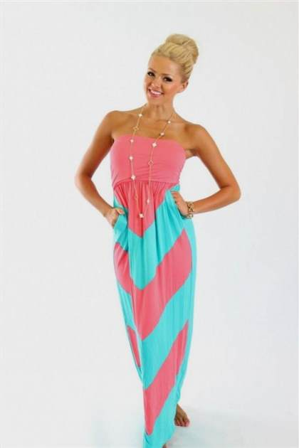 pink and blue chevron maternity maxi dress
