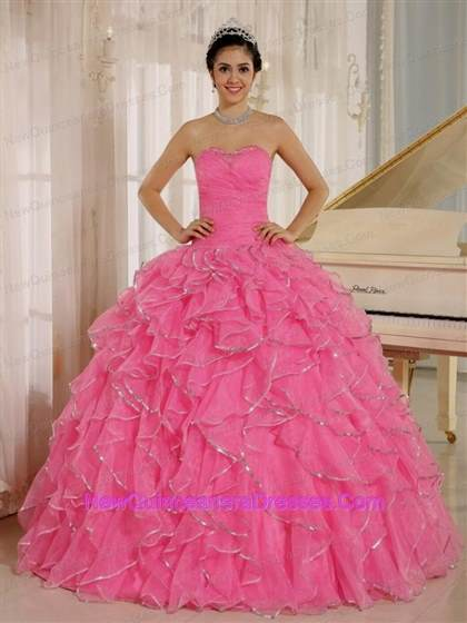 pink dresses for quinceaneras