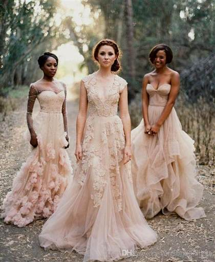 pink lace wedding dresses