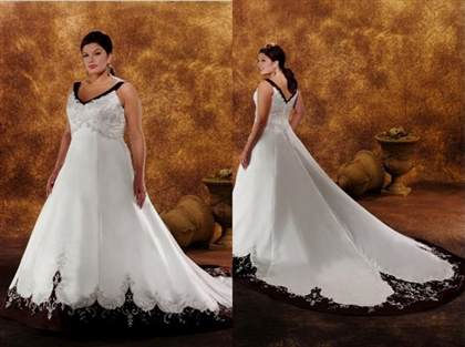 plus size black and white wedding dresses with sleeves