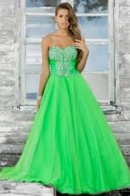 pretty lime green prom dresses