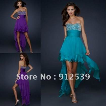prom dresses high low