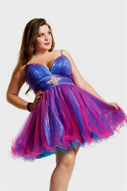 purple prom dresses plus size