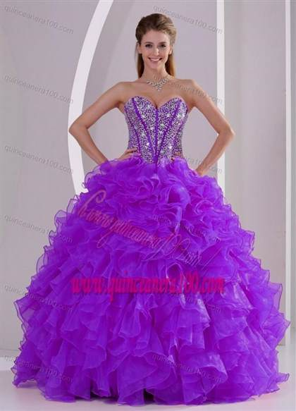 purple puffy quinceanera dresses