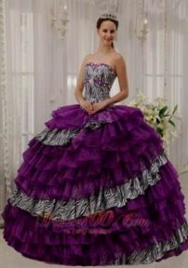 purple zebra quinceanera dresses