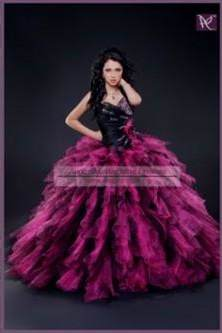 quinceanera dresses black and pink