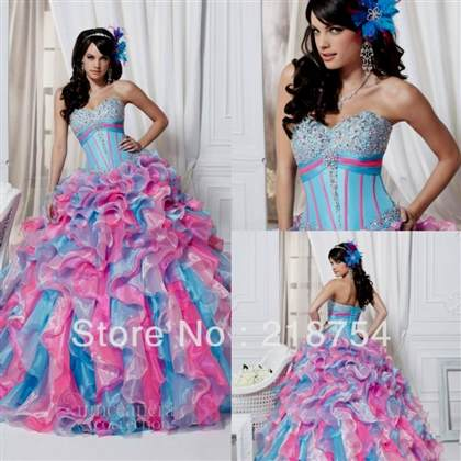 quinceanera dresses pink and blue
