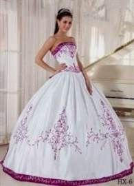 quinceanera dresses purple and white