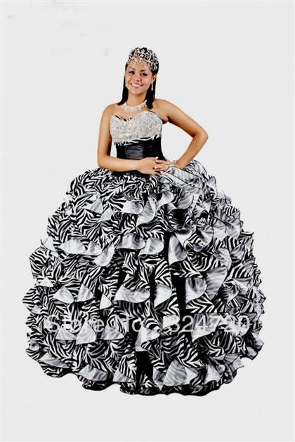 red and black zebra quinceanera dresses