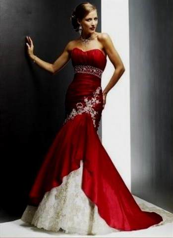 red and silver wedding dresses