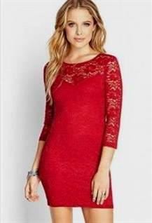 red lace dresses forever 21