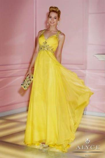 sparkly yellow prom dresses
