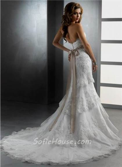 strapless beaded mermaid wedding dresses