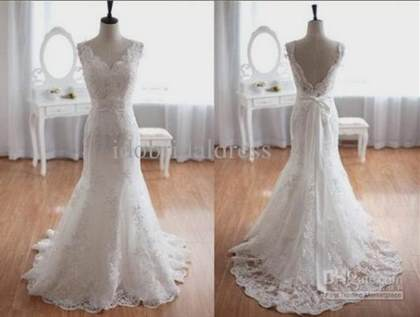 vintage lace wedding dress open back