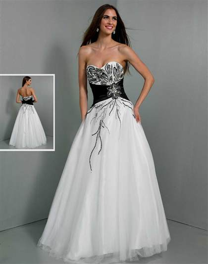 white and black prom dresses