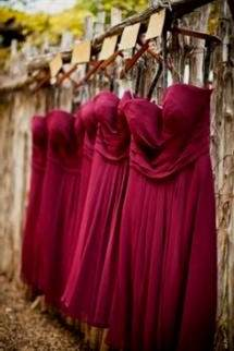 wine chiffon bridesmaid dresses