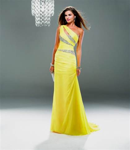 yellow formal dresses for women