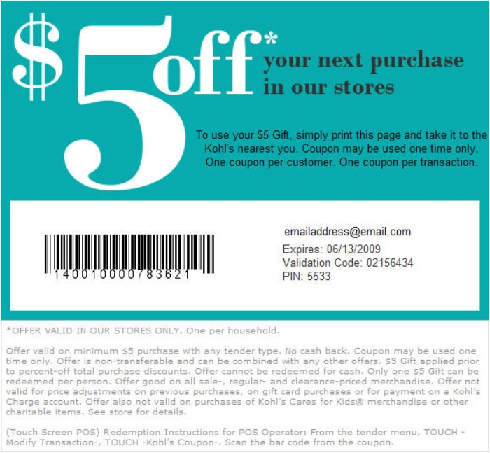 It is a photo of Old Fashioned Kohls 10 Off Coupons Printable